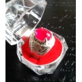 Khodamic Natural Ruby Stone Ring Talisman Amulet (SOLD)