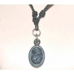Khodamic Black Lightning Stone Pendant (RAW) Anti Black Magick Amulet Talisman