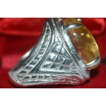 Khodamic Elephant Semen Stone Mounted on Ring Love Prosperity Talisman 03