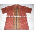 Elegant Cotton Batik Men's Short Sleeves Shirts RED/L06RED BUY IT NOW.