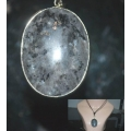 Khodamic Black Lightning Stone Pendant (Version 2) Anti Black Magick Amulet Talisman