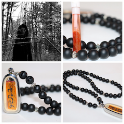 Charm Love Sex Amulet Talisman Set Prai Spirit Oil & Takrut made by a Witch (Highly Recommended) with Onyx necklace