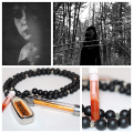Charm, Love, Luck/gambling Takrut, Amulet Talisman Spirit Oil Set Made by Powerful Witch (Highly Recommended) with Onyx talisman necklace. (SOLD OUT)