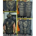 2 pc Islamic Warrior Vest & Head Scarf Malaysia Indonesia Talisman Physical Protection Anti Black Magick