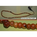 Khodamic Dhikr Zikir Zikr Beads Ruby Core Wood Powerful Supernatural Talisman Tasbih Inserted Khodam