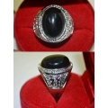Black Lightning Stone Ring Protection, Anti Black Magick, Increase Confidence Talisman (order now)