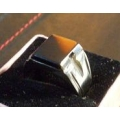 Khodamic Black Lightning Stone Ring Powerful Protection (order now) Pre-Order item.