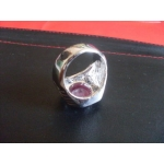 Empowered Red Lemongrass Gem Stone wth Zirconia Diamonds Attraction Wealth Talisman